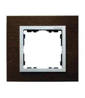 Ramka 1- krotna wenge / aluminium mat 82917-65