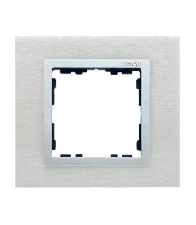 Ramka 1- krotna metalowa inox mat / aluminium 82917-34