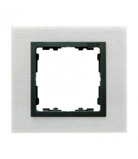 Ramka 1- krotna metalowa inox mat / grafit 82817-31