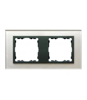 Ramka 2- krotna szklana szara / grafit 82827-35
