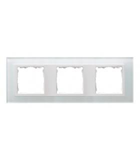 Ramka 3- krotna szklana biały / biała 82637-30