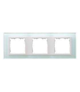 Ramka 3- krotna szklana naturalny / biała 82637-60
