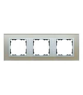 Ramka 3- krotna szklana srebro / aluminium 82937-62