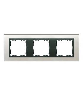 Ramka 3- krotna szklana szara / grafit 82837-35