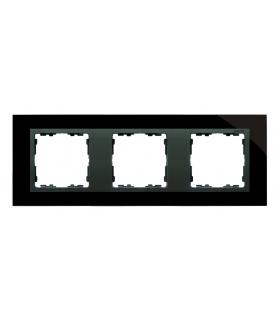 Ramka 3- krotna szklana czarna / grafit 82837-32