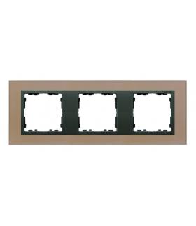 Ramka 3- krotna szklana miedź / grafit 82837-34