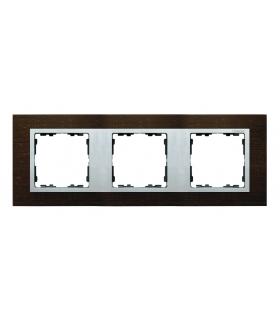 Ramka 3- krotna wenge / aluminium mat 82937-65