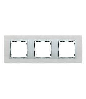 Ramka 3- krotna metalowa inox mat / aluminium 82937-34