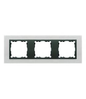 Ramka 3- krotna metalowa inox mat / grafit 82837-31