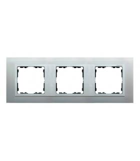 Ramka 3- krotna aluminium / aluminium mat 82937-33