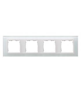 Ramka 4- krotna szklana biały / biała 82647-30