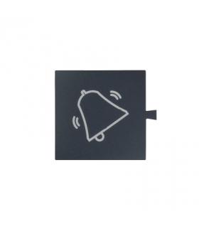 Filtr do klawisza świecącego tło grafit - piktogram dzwonek biały 82962-30
