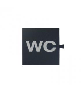 Filtr do klawisza świecącego tło grafit - piktogram WC 82962-32