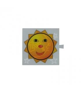 Filtr do klawisza świecącego tło białe - piktogram Słońce / Księżyc 82962-62