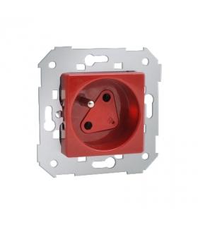 Gniazdo wtyczkowe pojedyncze DATA z kluczem uprawniającym czerwony 16A 27469-01-58