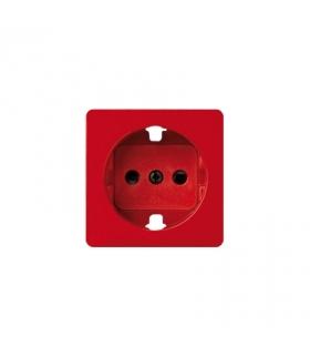 Pokrywa do gniazda wtyczkowego pojedynczego z uziemieniem typu Schuko czerwony 82041-37