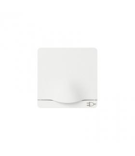 Pokrywa z klapką do gniazda wtyczkowego Schuko biały 82090-30