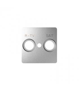 Pokrywa do gniazda antenowego RTV-SAT aluminium 82097-93
