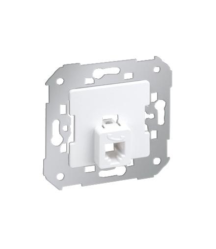 Gniazdo telefoniczne pojedyncze RJ11 biały 75480-30