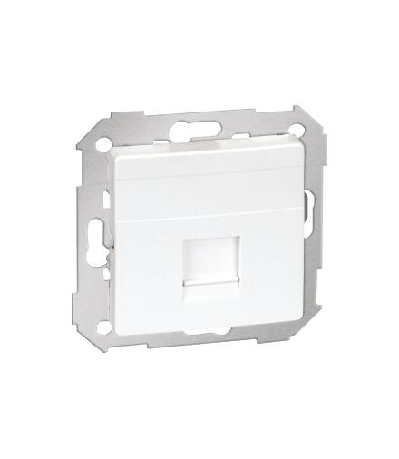 Pokrywa gniazd teleinformatycznych na Keystone płaska pojedyncza biały 82005-30