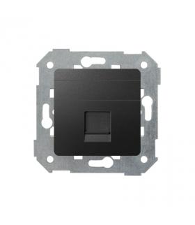 Pokrywa gniazd teleinformatycznych na Keystone płaska pojedyncza grafit 82005-38