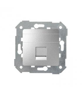 Pokrywa gniazd teleinformatycznych na Keystone płaska pojedyncza aluminium 82005-93
