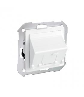 Pokrywa gniazd teleinformatycznych na Keystone skośna pojedyncza biały 82578-30