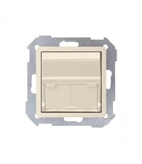 Pokrywa gniazd teleinformatycznych na Keystone skośna pojedyncza lub podwójna beżowy 82579-31