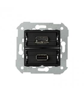 Gniazdo USB + HDMI (V1.4), żeńskie 7501095-039