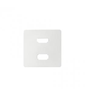 Pokrywa do gniazda USB + HDMI (V1.4), żeńskiego biały 8201095-030