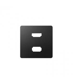 Pokrywa do gniazda USB + HDMI (V1.4), żeńskiego grafit 8201095-038