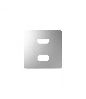 Pokrywa do gniazda USB + HDMI (V1.4), żeńskiego aluminium 8201095-093