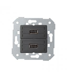 Gniazdo 2 x USB (2.0) typ A, żeńskie 7501090-039