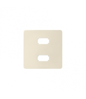 Pokrywa do gniazda 2 x USB (2.0) typ A, żeńskiego kremowy 8201090-031