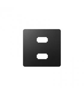 Pokrywa do gniazda 2 x USB (2.0) typ A, żeńskiego grafit 8201090-038