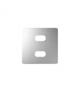 Pokrywa do gniazda 2 x USB (2.0) typ A, żeńskiego aluminium 8201090-093