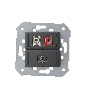 Gniazdo Mini jack + 2 RCA 7501092-039