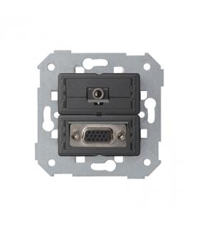 Gniazdo VGA żeńskie + mini jack 7500091-039
