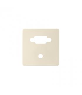 Pokrywa do gniazda VGA żeńskiego + mini jack kremowy 8200091-031
