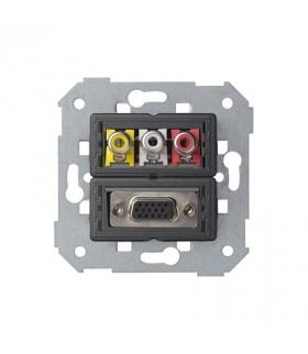 Gniazdo VGA żeńskie + 3 RCA 7500092-039