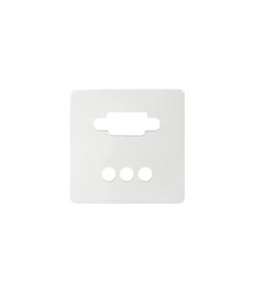 Pokrywa do gniazda VGA żeńskiego + 3 RCA biały 8200092-030