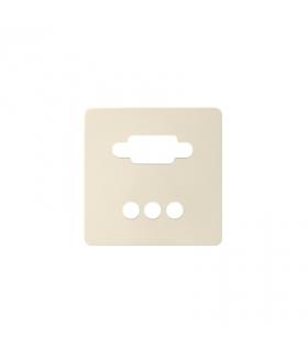 Pokrywa do gniazda VGA żeńskiego + 3 RCA kremowy 8200092-031