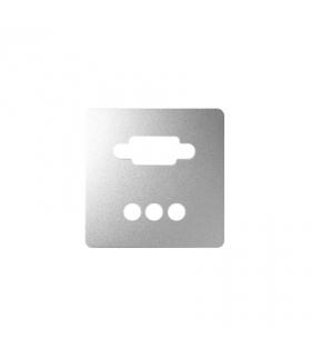 Pokrywa do gniazda VGA żeńskiego + 3 RCA aluminium 8200092-093