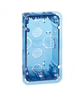 Puszka podtynkowa SIMON 500 1×S500 2×K45 niebieski transparentny 51020101-039