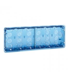 Puszka podtynkowa SIMON 500 6×S500 12×K45 niebieski transparentny 51020106-039