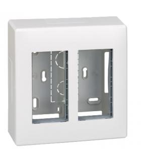 Obudowa natynkowa SIMON 500 2×S500 4×K45 czysta biel 51000002-030