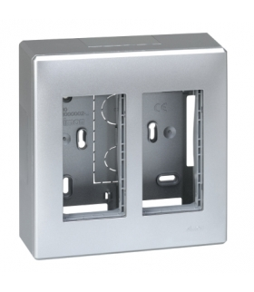 Obudowa natynkowa SIMON 500 2×S500 4×K45 aluminium 51000002-033