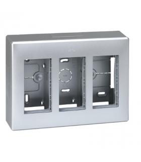 Obudowa natynkowa SIMON 500 3×S500 6×K45 aluminium 51000003-033