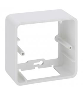 Puszka natynkowa pojedyncza składana K45 1×K45 czysta biel R250/9