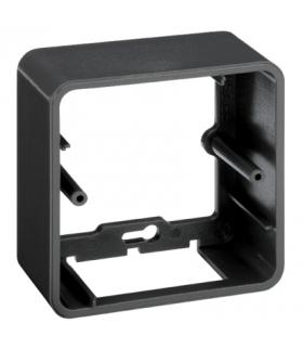Puszka natynkowa pojedyncza składana K45 1×K45 szary grafit R250/14